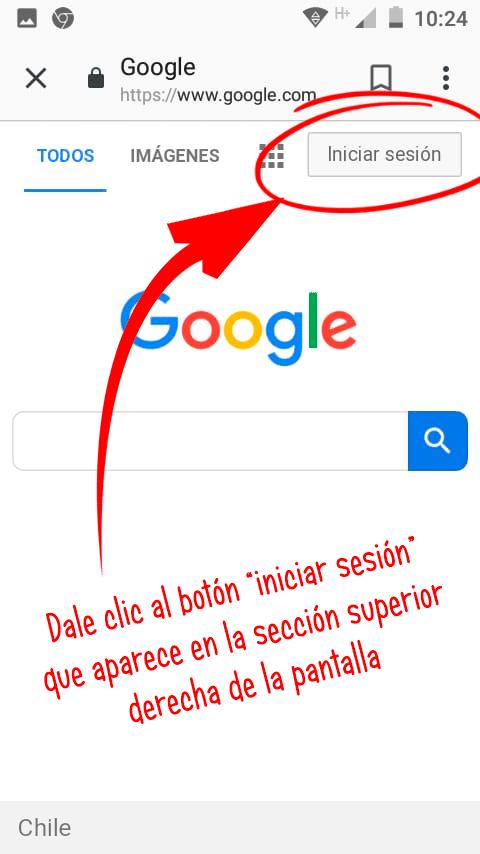 botón iniciar sesión de Google